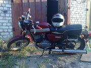 Мотоцикл Ява 6Волт,  1982 года, Цвет(ВИШНЯ)+Мотоцикл ЯВА :волт на запчасти